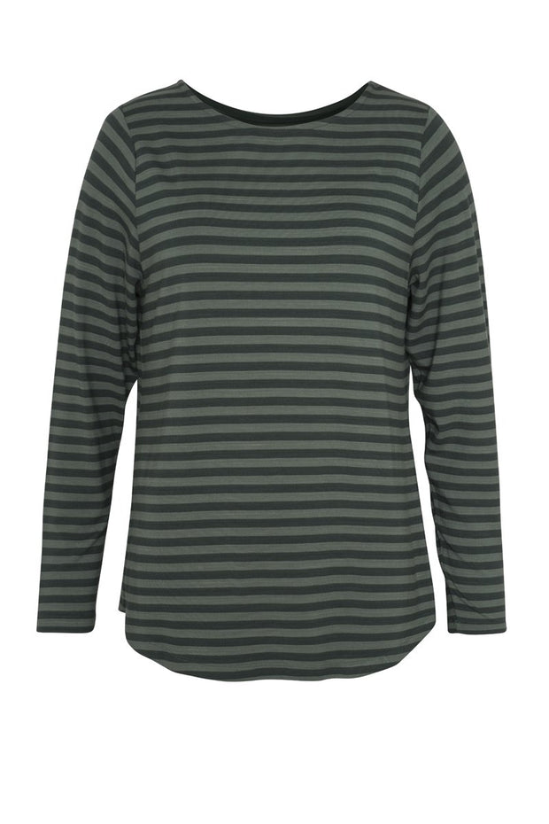 Comfy Copenhagen ApS Still Of The Night Blouse Green Strips