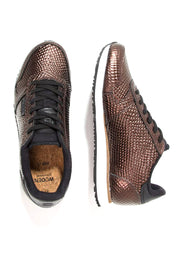 YDUN METALLIC | Copper | Mørkebrune sneakers fra WODEN