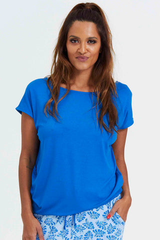 WITH OR WITHOUT YOU | Snorkel Blue | T-Shirt fra COMFY COPENHAGEN