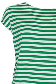 With Or Without You | Green Stripe | T-shirt fra Comfy Copenhagen