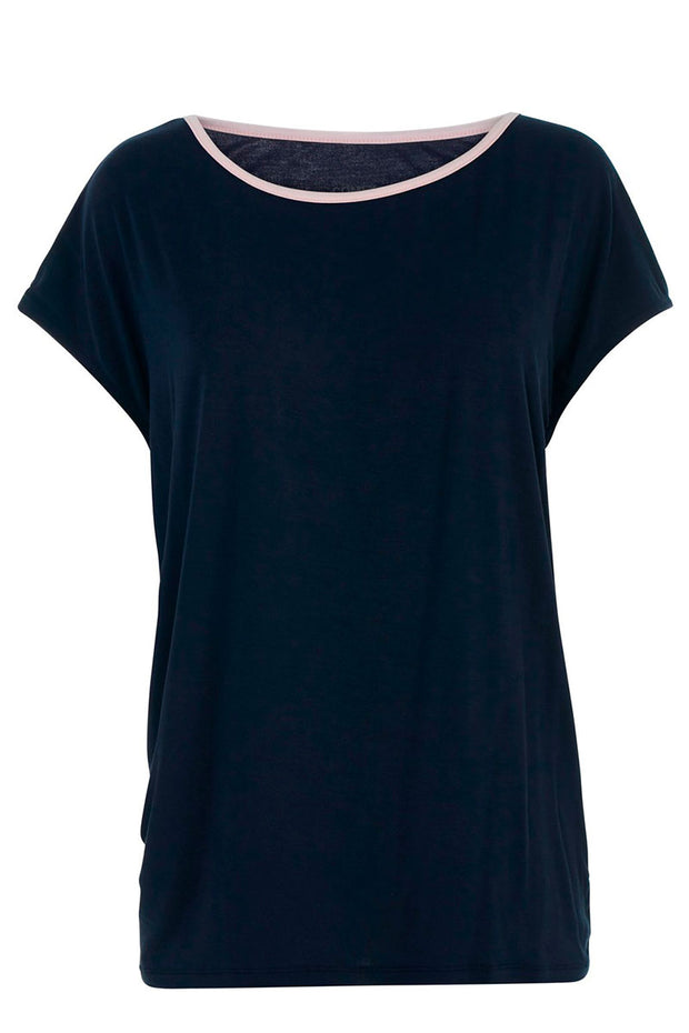 With Or Without You | Navy/Pink | T-shirt fra Comfy Copenhagen