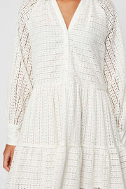 Sia LS dress | Star White | Kjole fra Yas