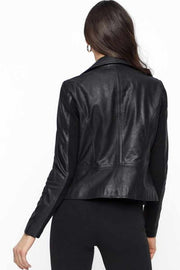 Sophie Leather Jacket | Sort | Læderjakke fra YAS
