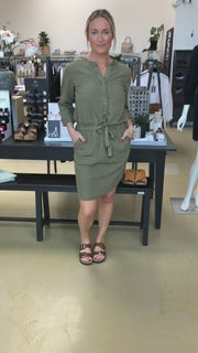 Cubi dress | Army | Kjole fra Freequent