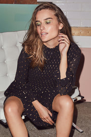Elyah Night Dress | Black | Kjole med smock fra Co'Couture