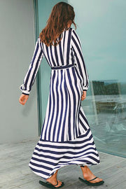 Ellanor Dress | Floss Stripe | Maxi kjole fra MbyM