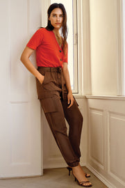 Carna Pant | Toffee | Cargo bukser fra Freequent