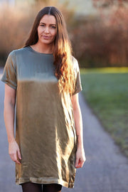 Gaya Dress | Army | Kjole med blonderyg fra Freequent