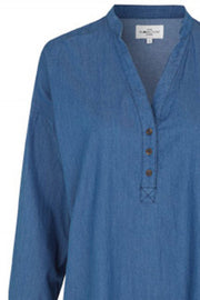 Pixie Newport Shirt | Medium Blue | Skjorte fra Global Funk