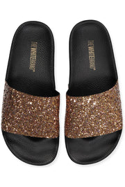 Glitter Gold | Slippers med glimmer fra The White Brand
