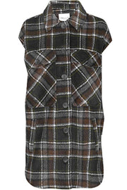Maline Tekla | Black Brown Check | Vest fra Global Funk
