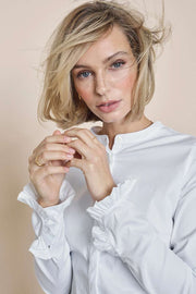 Mattie Sustainable Shirt | White | Skjorte fra Mos Mosh