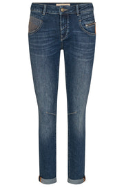 Nelly ReLoved Jeans Regular | Blue | Jeans fra Mos Mosh
