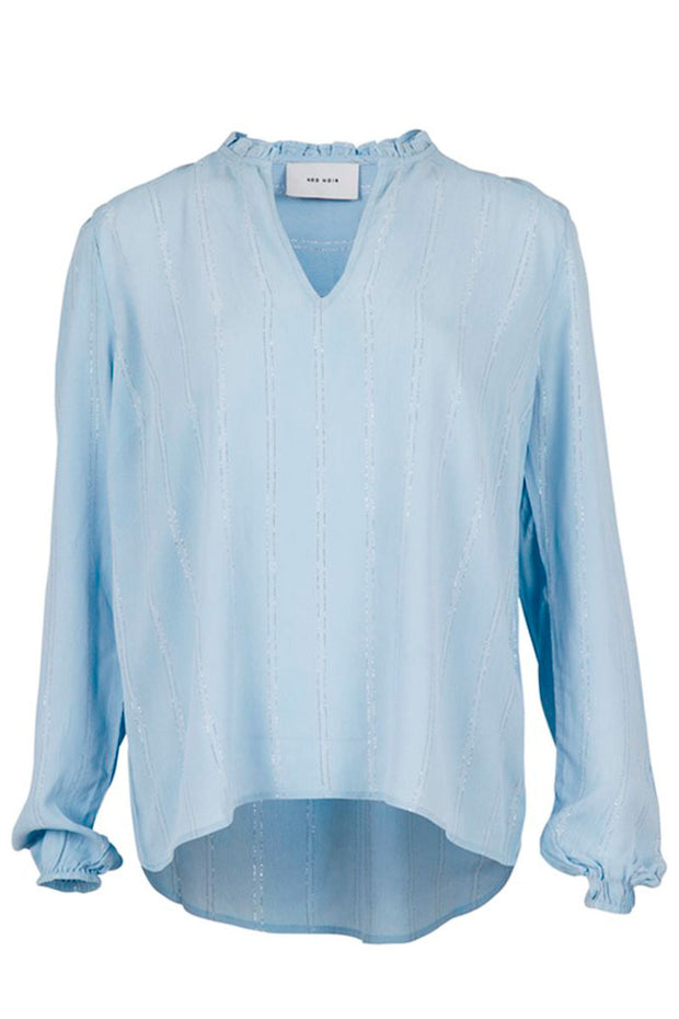 Anisette Lurex Shirt | Light Blue | Skjorte fra NEO NOIR