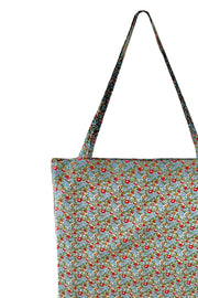 Lulu Cotton Shopper | Olive Blossom | Stof net med print fra Black Colour