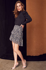 Winding Smock Skirt | Mid Grey | Nederdel fra Co'couture