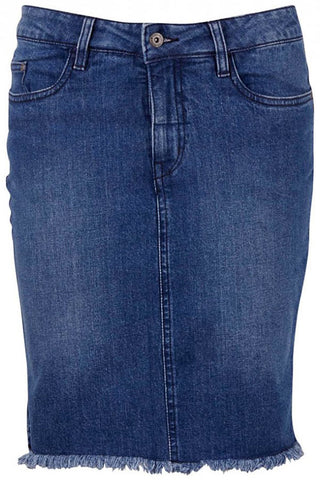 DENIM SKIRT | Mid blue | Denim nederdel fra SAINT TROPEZ