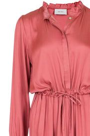 Silo solid sateen dress | Dusty rose | Maxikjole fra Neo Noir