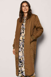 Sissel Long Jacket | Capers | Lang termo jakke fra Freequent