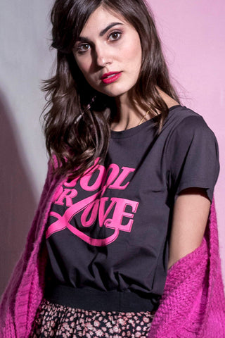 ROMA TEE | Sort | Fool for Love t-shirt fra LOLLYS LAUNDRY