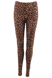 Lynn Leggings | Brown Leo | Leggings med print fra Black Colour