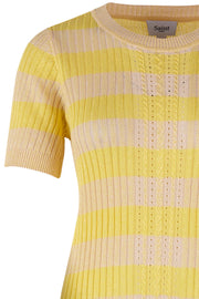 Knit Pullover 1/2 Sleeve | T2556 | Yellow | Pullover fra SAINT TROPEZ