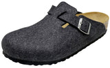 Birkenstock Boston, anthracite, wool