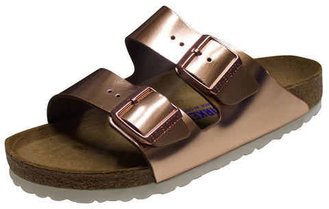 Birkenstock Arizona Soft Footbed, Metallic Copper, Leather