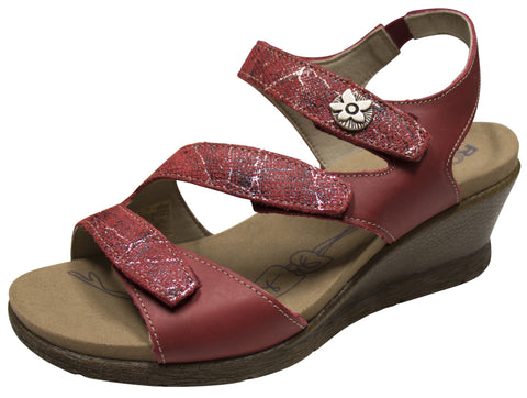 Romika Nevis 07 Sandal Red Combination