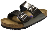 Birkenstock Arizona Soft Footbed, Metallic Anthracite, Leather