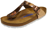 Birkenstock Gizeh, Soft Footbed, Metallic Copper, Leather