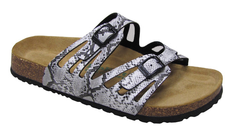 Two Buckle Cut Out Slide Brama Snake