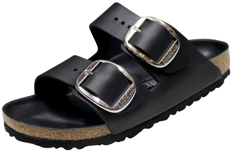Birkenstock Arizona Big Buckle, Black, Oiled Leather