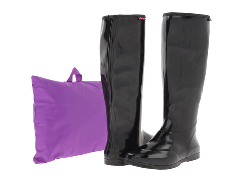 Women's Packables Rain Boots Black