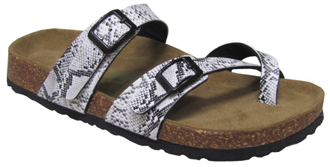 Two Buckle Slide with Toe Strap-Brama Snake