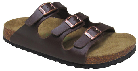 Viking Banff Three Buckle Slide Brown