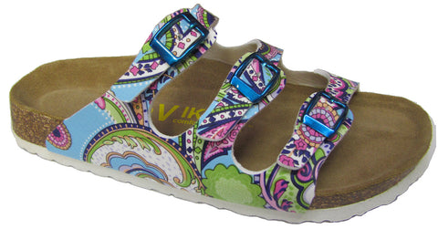 Three Buckle Slide - Brama Paisley Print