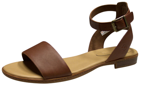 Timberland Women's Cherrybrook Sandal Brown Full-Grain