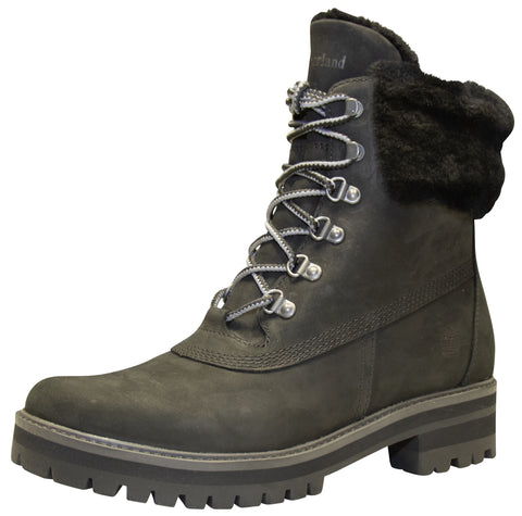 "Timberland Women's Courmayeur Valley Authentic Shearling 6"" Waterproof Boot Black"
