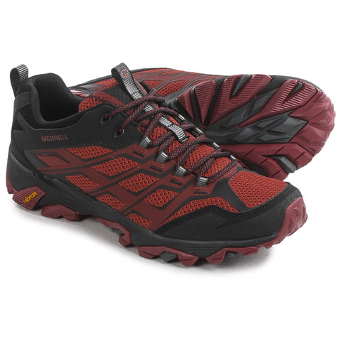 Merrell Men's Moab FST Waterproof Hiking Shoes Burgundy/Black