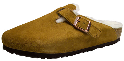 Birkenstock Boston, Mink, Suede/Shearling