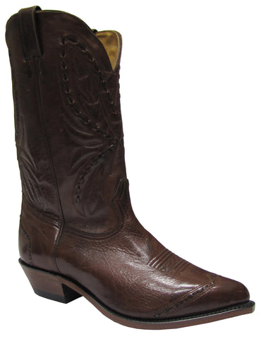 Men Cowboy Toe Cowboy Heel, Leather Sole, Ranch Hand Tan
