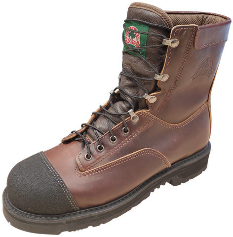 Canada West Men's Lace Work Boots Pecan Tumbled Insulated