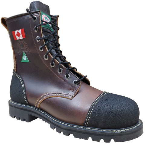Canada West Men's Lace Work Boots Pecan Tumbled