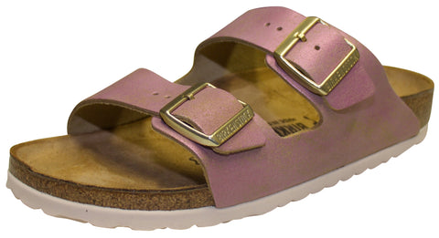 Birkenstock Arizona, Washed Metallic Pink, Suede