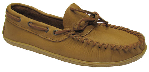 MEN'S Medium Moccasins with Rubber Sole