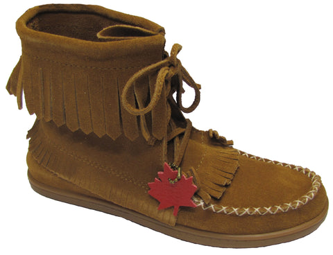 Women's Medium Moccasins Suede Hazelnuts