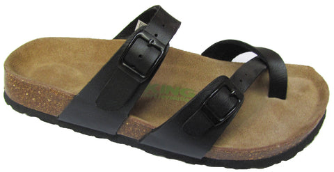 Viking Tofino Two Buckle Slide with Toe Strap Black
