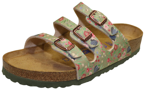 Birkenstock Florida, Soft Footbed, Meadow Flowers Khaki, Birko-Flor