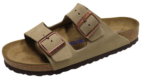 Birkenstock Arizona, Soft Footbed, Taupe, Suede